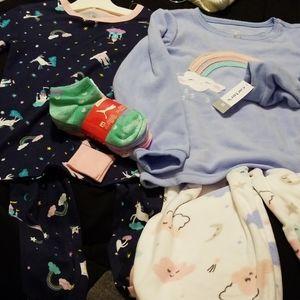 New Kid's Pajama Sets & Socks